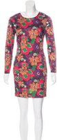 Veronica Beard Satin Floral Print Dress