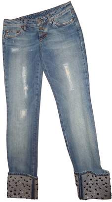 Frankie Morello Navy Cotton Jeans for Women