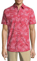 Haggar Short Sleeve Button-Front Shirt