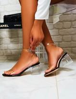 Public Desire Afternoon Perspex Block Heels Patent