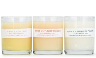 A.P.C. scented candle set