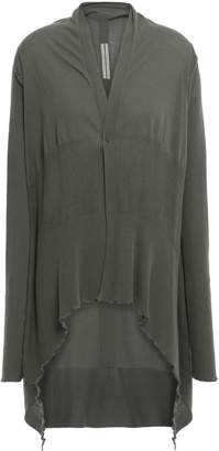 Rick Owens Draped Ribbed Cotton Cardigan