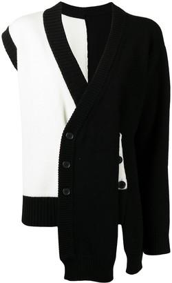 Delada Asymmetric Wool Cardigan