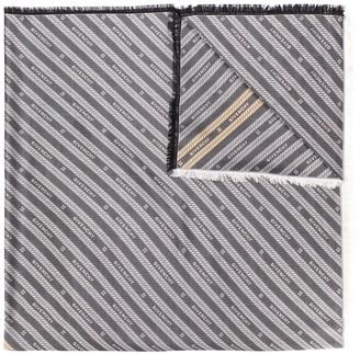 Givenchy Chain Stripe Silk Scarf