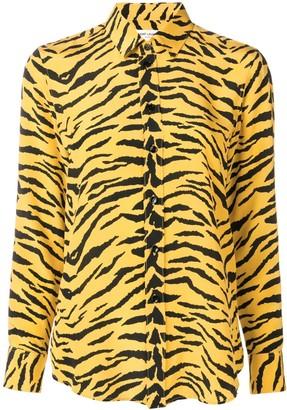 Saint Laurent Zebra-Print Shirt