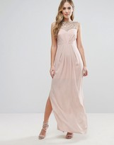 Lipsy Sweetheart Maxi Dress With Embellished Bust