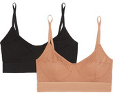 Base Range Baserange - Set Of Two Stretch-bamboo Soft-cup Bra - Neutral