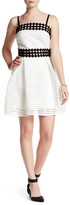 Soprano Yoke Eyelet Skater Dress