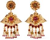 Elizabeth Cole Edwina 24-karat gold-plated Swarovski crystal earrings