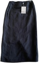 Marella Black Cotton Skirt for Women