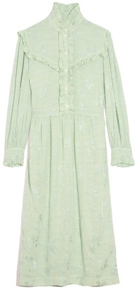 Raquel Allegra Luna Ruffle Dress in Mint