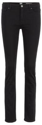 BOSS Slim-fit jeans in ultra-black denim