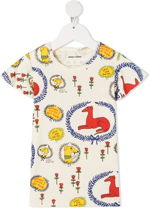 Mini Rodini dog print T-shirt