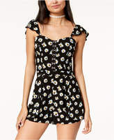 American Rag Juniors' Printed Bustier Romper, Created for Macy's