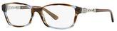 Bulgari Violet & Brown Chain-Accent Eyeglasses