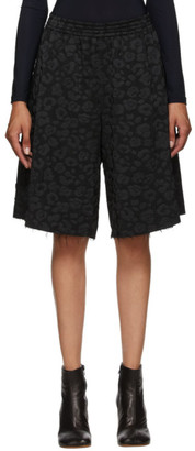 MM6 MAISON MARGIELA Black Jacquard Leopard Shorts