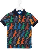 Paul Smith Dinosaur print polo shirt