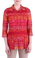 TanJay Tan Jay Women's Button Front Blouse