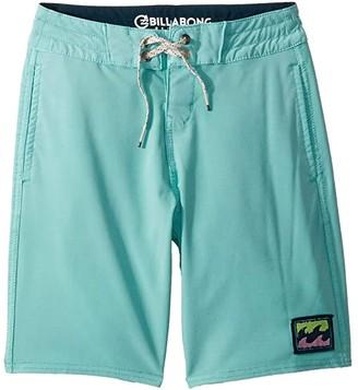 Billabong Kids All Day Light Boardshorts (Big Kids) (Aqua) Boy's Swimwear
