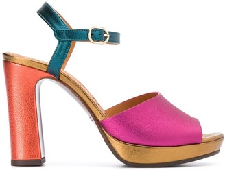 Chie Mihara Cassette 110mm colour-block sandals