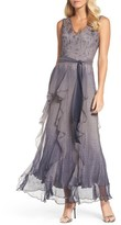 Komarov Women's Print Sash Maxi Dress