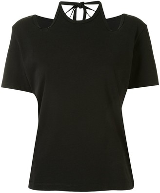 Dion Lee halterneck tie T-shirt