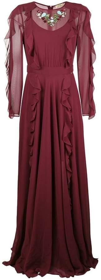 Liu Jo ruffle detail evening dress