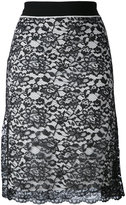Paco Rabanne lace layered skirt - women - Nylon/Polyester/Viscose - 38