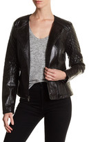GUESS Asymmetrical Zip Faux Leather Jacket