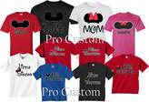 ProCustom Mickey DAD Minnie Mom Disney FAMILY Vacation Matching Tshirts (-M youth