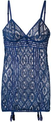 ELSE Embroidered Sheer Dress
