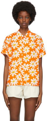 ERL Orange Daisy Shirt