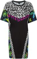 Marc Jacobs printed patchwork T-shirt dress - women - Cotton - XS