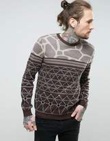 Asos Knitted Jumper With Jacquard Design