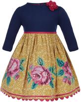 Monsoon Baby Clarabella Lace Print Dress