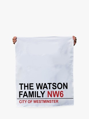 Jonny's Sister Personalised Street Sign Tea Towel
