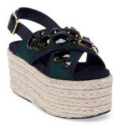 Marni Jeweled Crisscross Strap Espadrille Platform Sandals
