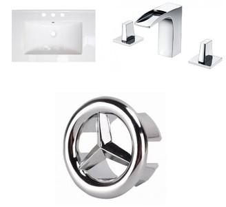 "American Imaginations 3 Hole Ceramic 24"" Single Bathroom Vanity Top"