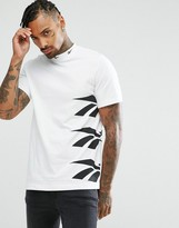 Reebok Vector Side Logo T-Shirt In White AZ9545