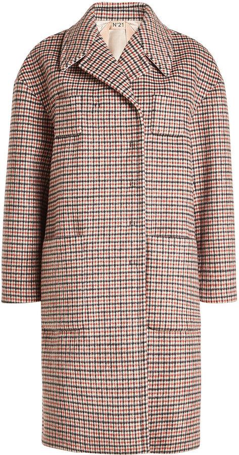 N°21 N21 Printed Coat with Wool