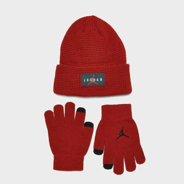 AHAHA Boys Winter Hat Pompom Knit Hat and Gloves Set