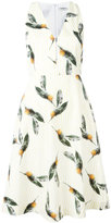 Cacharel pineapple print flared dress