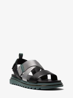 MICHAEL Michael Kors Damon Leather and Nylon Sandal