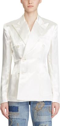 Ralph Lauren Collection Leslie Satin Blazer Jacket
