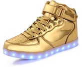 TULUO Kid & Men & Woman USB Charging LED 7 Colors Light High Top Sneakers Light shoes.