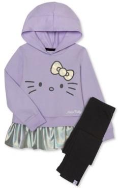 Hello Kitty Little Girls 2-Pc. Peplum Hoodie & Leggings Set