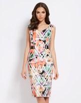 Star by Julien Macdonald Floral Abstract Scuba Dress