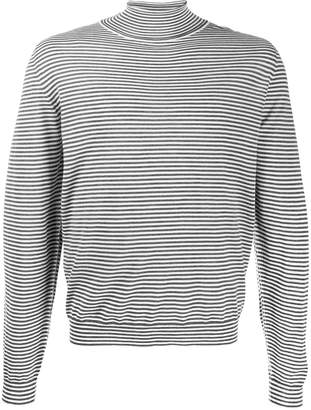 Maison Margiela turtleneck striped sweater