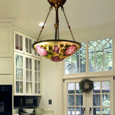 Dale Tiffany Dale TiffanyTM Purple Flower Hanging Fixture