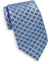 Saks Fifth Avenue Silk Grid Plaid Tie